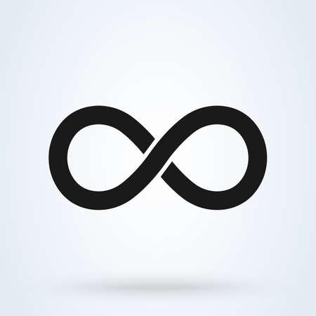 Symbole de l'infini. Illustration de conception d'icône moderne de vecteur simple.