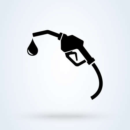 Station de pompe à essence, illustration de conception d'icône moderne de vecteur simple.
