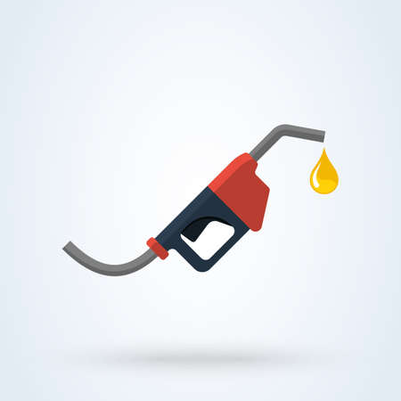 Fuel pump, Petrol station flat style vector modern design illustration.