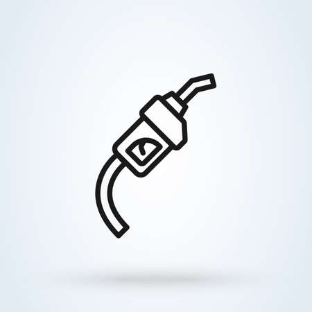 Gas Pump line. Simple vector modern icon design illustration.