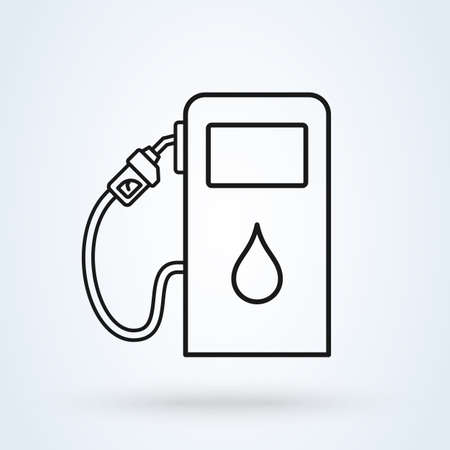 gas station pump line. Simple vector modern icon design illustration.