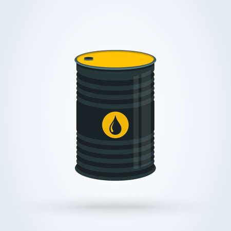 Petrol, oil barre flat. vector modern design illustration. Ilustração