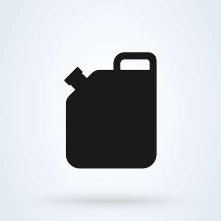 oil can petrol, Simple vector modern icon design illustration. Ilustração