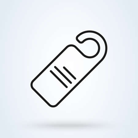 door hanger line. vector modern icon design illustration