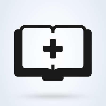 Medic Book Logo. Simple vector modern icon design illustration Ilustração