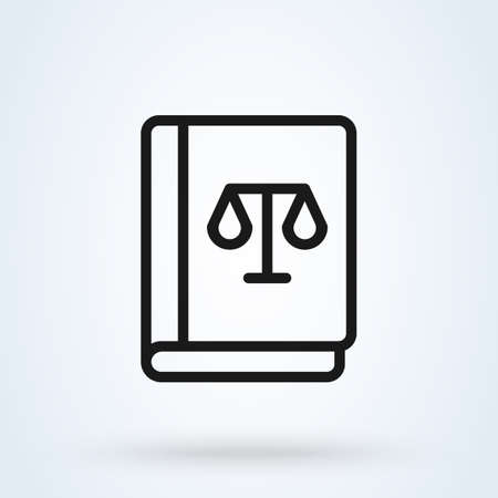 Law Book Simple vector modern icon design illustration Stock Illustratie