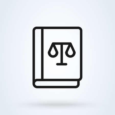 Prawo książki proste wektor ilustracja projekt nowoczesnej ikony