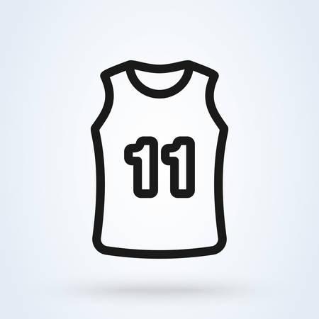 Basketball Jersey line. Simple vector modern icon design illustration.