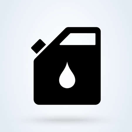 oil can petrol, Simple vector modern icon design illustration.