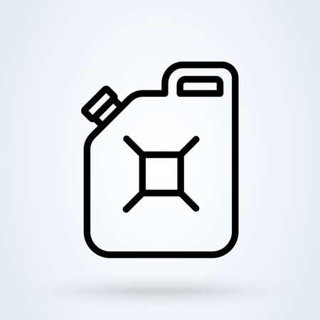 oil can line. Simple vector modern icon design illustration. Ilustração