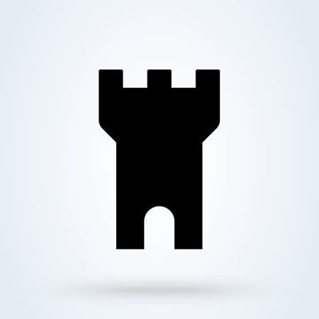 Castle Tower Simple vector modern icon design illustration. Imagens - 138357150