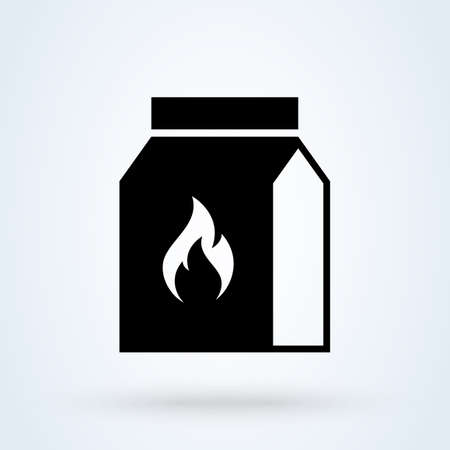 Grill charcoal package. Simple vector modern icon design illustration. 스톡 콘텐츠 - 137673506