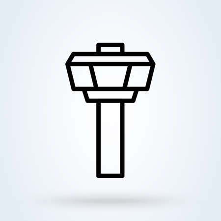 Control tower outline airport, Simple vector modern icon design illustration.