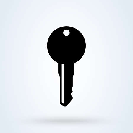 Key symbol. Simple vector modern icon design illustration. Ilustração