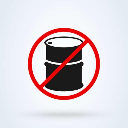oil barrel no. Simple vector modern icon design illustration. Ilustração