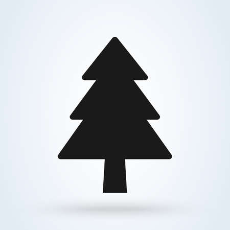 pine tree christmas, Simple vector modern icon design illustration. 스톡 콘텐츠 - 138357187
