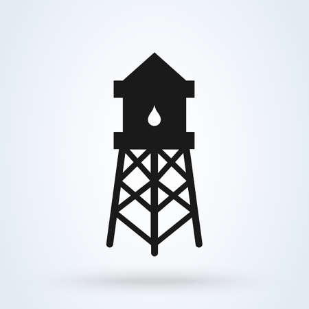 Water Tower Simple vector modern icon design illustration.