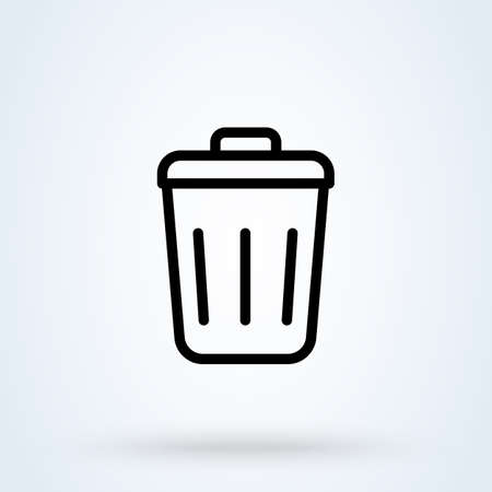 trash can outline, Simple vector modern icon design illustration. 스톡 콘텐츠 - 137730862