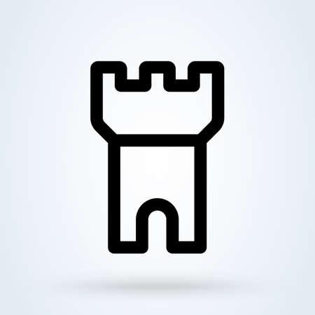 Outlined castle. Simple vector modern icon design illustration. Imagens - 138357191