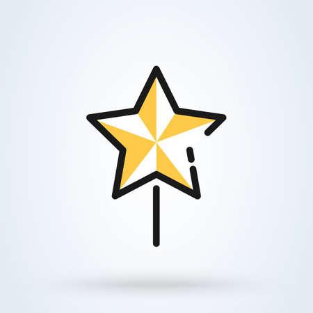 Star Christmas New Year Line. Simple vector modern icon design illustration. Иллюстрация