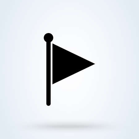 flag symbol Simple vector modern icon design illustration.