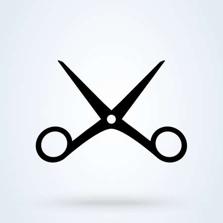 scissors cut Simple vector modern icon design illustration. 스톡 콘텐츠 - 137732283