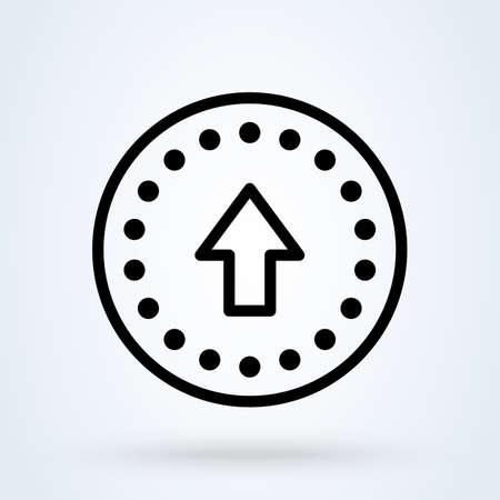 Buy Upgrade Ecommerce. line art Simple vector modern icon design illustration.