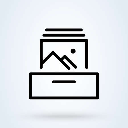 collectible photo, Simple vector modern icon design illustration. Иллюстрация