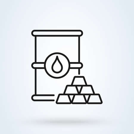 Commodity line. Simple vector modern icon design illustration. Imagens - 138526402