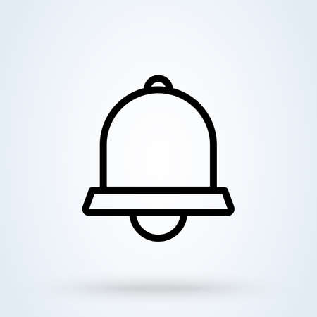 Notification bell line. Simple vector modern icon design illustration.