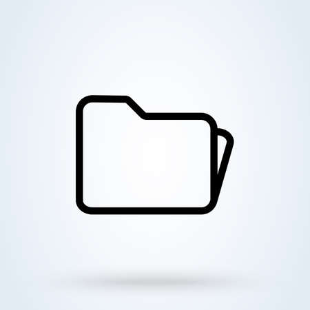 folder line Simple vector modern icon design illustration.