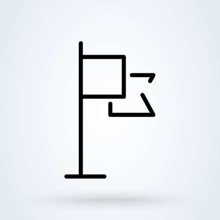 flag line Simple vector modern icon design illustration. Imagens - 138526403