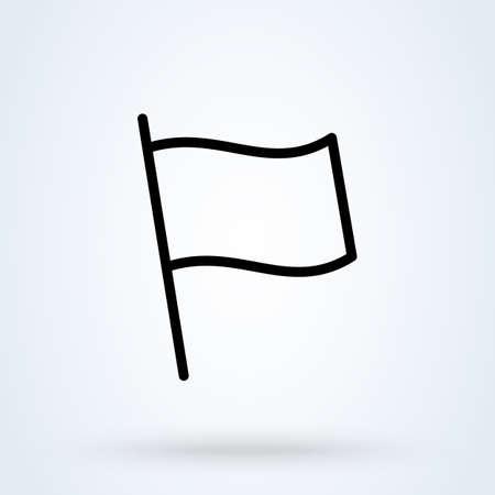 flag line Simple vector modern icon design illustration. 스톡 콘텐츠 - 138526404