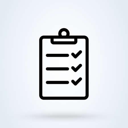 Inspection line Simple vector modern icon design illustration. 스톡 콘텐츠 - 138526406