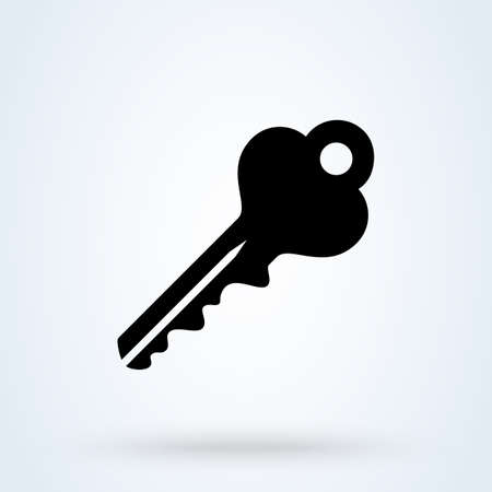 key. vector Simple modern icon design illustration. 스톡 콘텐츠 - 138024806