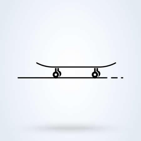 skateboard vector Simple modern icon design illustration.