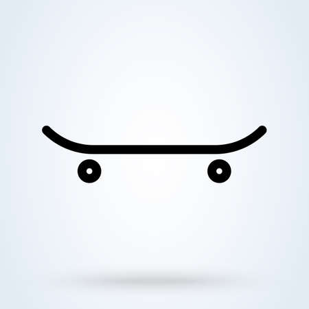 skateboard icon. vector Simple modern  design illustration. Иллюстрация