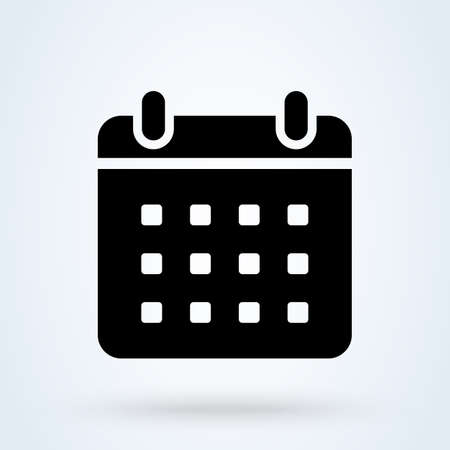 Calendar and data symbol. vector Simple modern icon design illustration. 스톡 콘텐츠 - 138357241