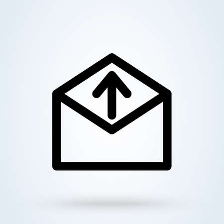 Feedback Letter With Up Arrow icon. vector Simple modern design illustration. 스톡 콘텐츠 - 138357243