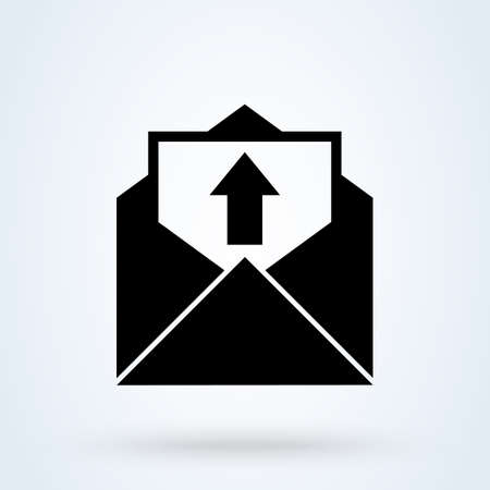 Feedback Letter With Up Arrow icon. vector Simple modern design illustration.