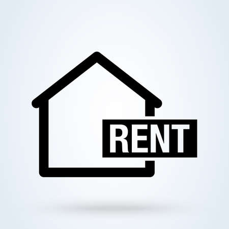 Home Rent. vector Simple modern icon design illustration. Imagens - 138179548
