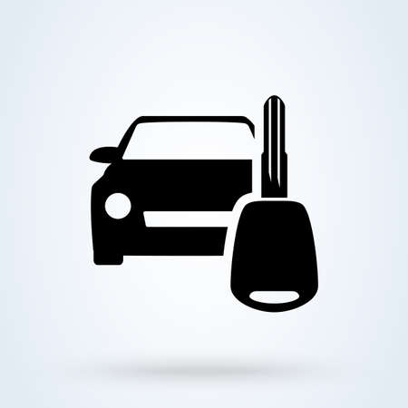 key car rent. vector Simple modern icon design illustration. Imagens - 138357245