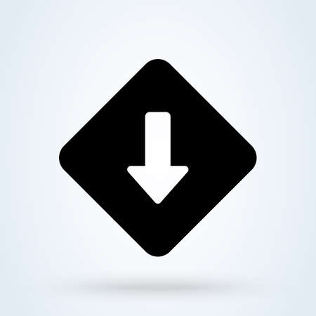 Low Priority icon. vector Simple modern  design illustration. 스톡 콘텐츠 - 138179477