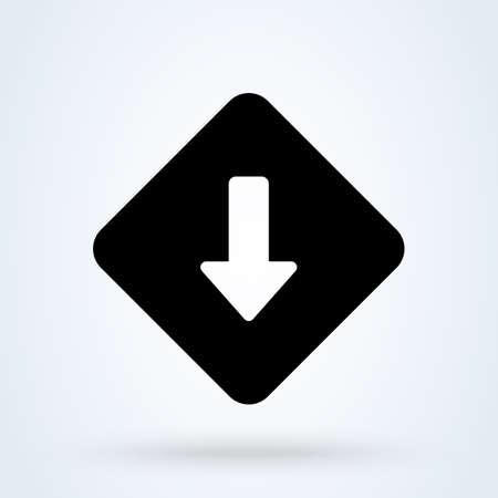 Low Priority icon. vector Simple modern  design illustration. Иллюстрация
