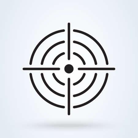 Purpose Accuracy icon. vector Simple modern design illustration.