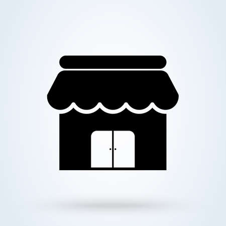 Small Business and shop store. vector Simple modern icon design illustration.