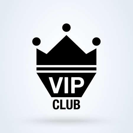 Vip club. vector Simple modern icon design illustration. 스톡 콘텐츠 - 138357249