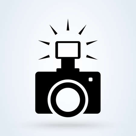 Camera flash, Photography icon. Isolated Photocamera With Symbol