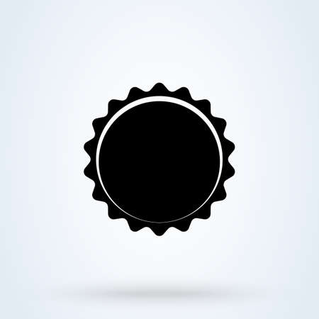 Beer Bottle cap vector. Illustration isolated icon.