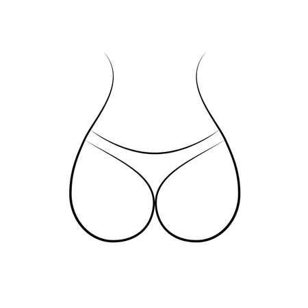 cul. vecteur Illustration de conception simple icône moderne. Vecteurs